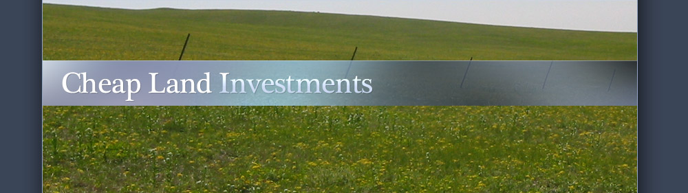 Cheap land investments
